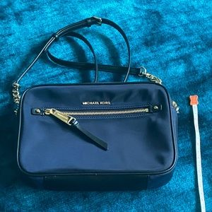 Michael Kors nylon navy camera/crossbody bag